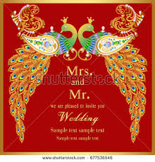 indian wedding invitation card abstract background stock vector