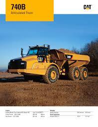 740b articulated truck caterpillar equipment pdf catalogue