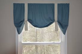 window valance tie up valance blue valance boys nursery