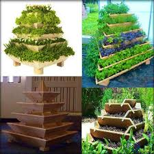 how to build an herb garden diy herb pyramid pearltrees