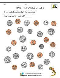 Categorizing Worksheets Printable Coin Worksheets Free Kindergarten Math Free Printable