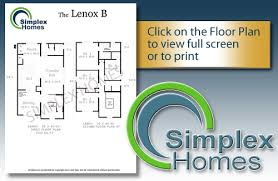 The Lenox Floor Plan Simplex Homes 2 Story Modular Home The Lenox Plan B
