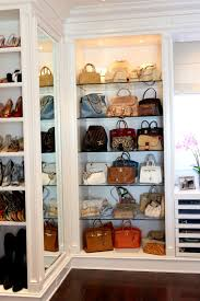 bedroom lighted purse collection display cabinet with glass