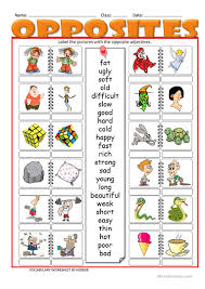 Free Adjective Worksheets 63 Free Esl Adjectives Opposites Worksheets For Pre Intermediate