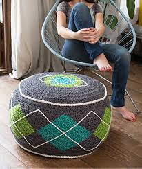 bean bag chair with ottoman ravelry argyle bean bag ottoman pouf pattern by yarn twins