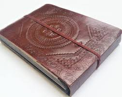 leather scrapbook leather album etsy