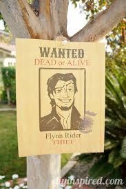 flynn rider wanted poster printable diy inspired