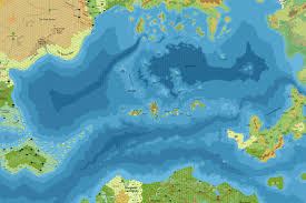 Seas Of The World Map by Mystaran Maps