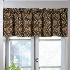 Green Valance Rustic Curtains Cabin Window Treatments