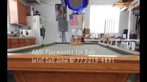 used pool tables for sale indianapolis amf playmaster pool table youtube