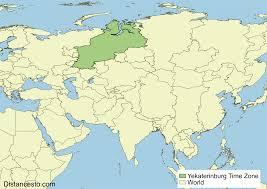 Map Time Zones Yekt Yekaterinburg Time Zone