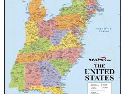 Us East Coast Map Download Map Us Eastern Seaboard Major Tourist Attractions Maps