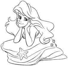 pretty disney princess ariel coloring pages 1995 disney princess