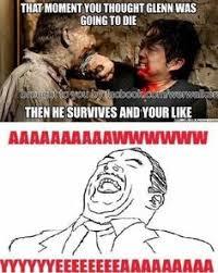 Glenn Walking Dead Meme - glenn walking dead death meme getwebs org