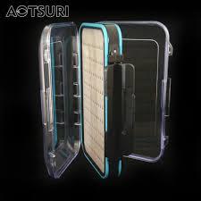 aotsuri 150 70 48 mm plastic waterproof fly fishing bait box