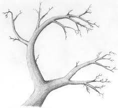 dark tree drawing really slick craft art drawing lettering