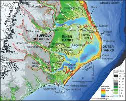 Outerbanks Map Regions Nc Land Of Water