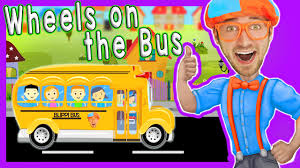 party bus clipart wheels on the bus blippi nursery rhymes songs for kids youtube
