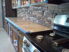 Rock Backsplash Kitchen by River Rock Backsplash I Did This In My Kitchen I Used Liquid