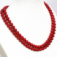 round beads necklace images Delicate imitation red coral round beads necklace 8 10 12mm pretty jpg