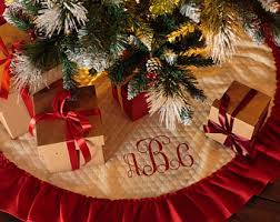 personalized tree skirt etsy