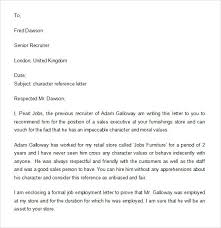 ideas of character reference letter example for job also example