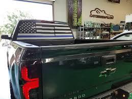 Car Window Flags Thin Blue Line Flag Chevy Silverado Window Perf Gator Wraps