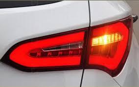 hyundai santa fe tail light assembly 4pcs rear led lights tail l assembly kit upgrade led tail light