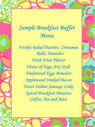 Sample Buffet Menus by Sample Menus Stonington Harbor Yacht Club