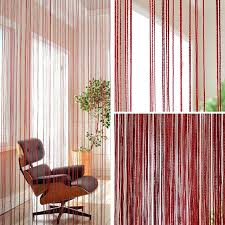 Cafe Kitchen Curtains Door Curtain Models Polyester String Curtian Wine Orange
