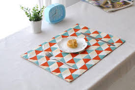 large plastic table mats european cotton linen placemats heat resistant placemats washable