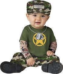 incharacter sergeant duty us army hero flag infant baby halloween
