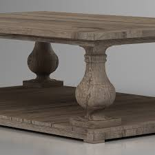 3d balustrade salvaged wood coffee table high quality 3d models