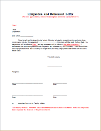 resignation with retirement letter template document hub