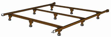 bbk43wb bolt up steel super duty waterbed frame king