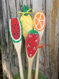 Pineapple Decorations For Kitchen by Wooden Summer Kitchen Spoons Strawberry Watermelon Pineapple