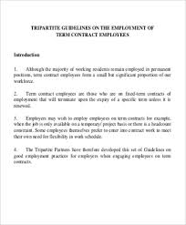work contract templateemployment contract agreement