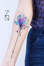 watercolor lotus tattoo cutelittletattoos u201cwatercolor style lotus flower tattoo on the