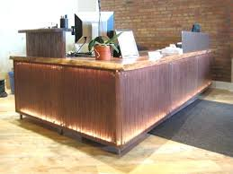 Industrial Reception Desk Desk Rustic Reception Desk For Sale Reception Desks Made Of Wood