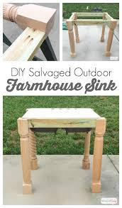Building Outdoor Furniture What Wood To Use by Cast Iron Farmhouse Sink How To Build A Base From Salvaged Materials