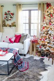 White Christmas Tree Red Gold Decorations by Our Red Gold Christmas Tree Family Room Four Generations One