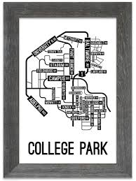 map of maryland to print college park maryland map print school posters
