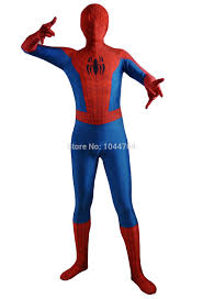 newest ultimate spiderman costume red and blue print seamless