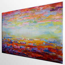 Living Room Paintings Canvas Painting Living Room Wall Art Abstract Landscape Painting