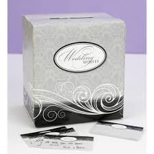 wedding wish book damask wedding wishes box