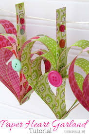 heart garland tutorial paper strips heart garland and garlands