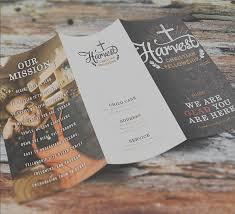 harvest christian brochure church print ideas
