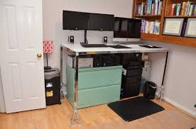 Platform For Standing Desk 38 Adjustable Standing Desk Conversion 5 Steps With Pictures