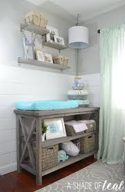 Changing Table Furniture Rustic Glam Nursery One Room Challenge The Reveal White