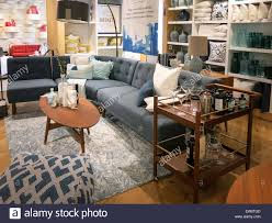 west elm home furnishings store nyc usa stock photo royalty